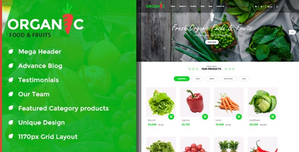 Organic Food and Fruits is modern OpenCart Theme - Miscellaneous OpenCart