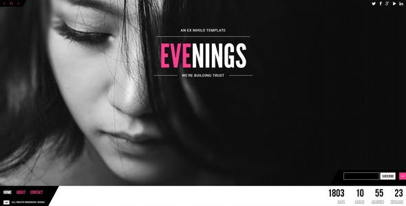 Evenings || Responsive Coming Soon Page