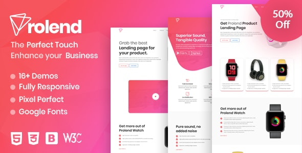 Prolend - Product Landing Page - Marketing Corporate