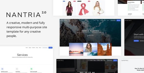 Nantria - Multi-purpose HTML5 Template - Corporate Site Templates