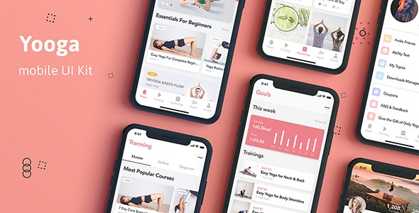 Yooga - Health and Fitness UI Kit for Sketch - Sketch UI Templates