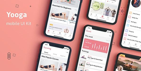 Yooga - Health and Fitness UI Kit for Figma - Figma UI Templates