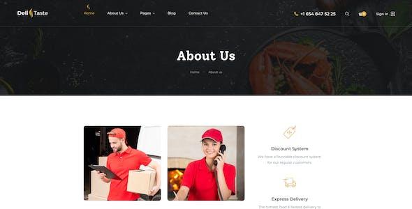 DeliTaste - Food Delivery Restaurant Directory Figma UI Template