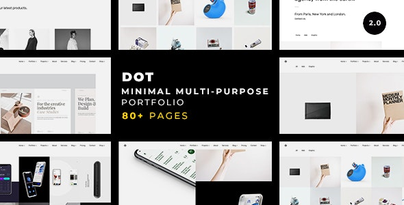 Dot — A Clean & Minimalist Multi-Purpose Portfolio - Portfolio Creative
