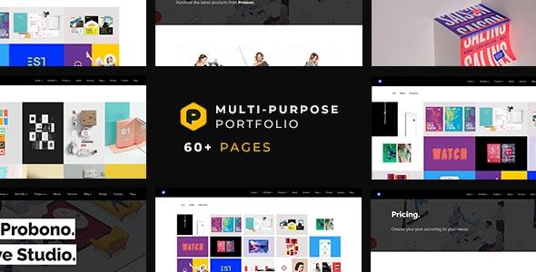 Probono — Multi-Purpose Creative Portfolio Template - Portfolio Creative