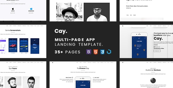Cay — Multi-Page App Landing Template - Software Technology