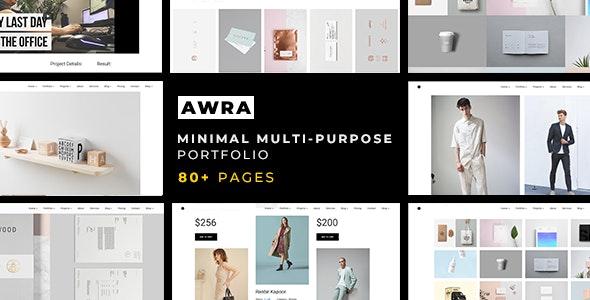 Awra — Minimal Multi-Purpose Portfolio Template - Portfolio Creative