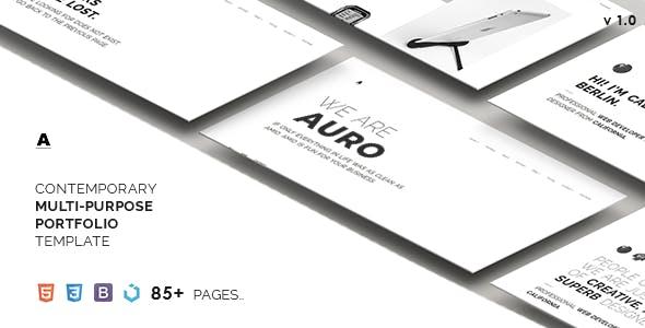 Auro — A Neat & Contemporary Multi-Purpose Template