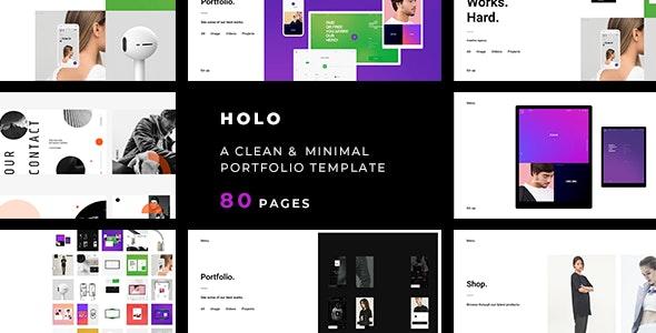 Holo — A Clean & Minimal Portfolio Template - Portfolio Creative
