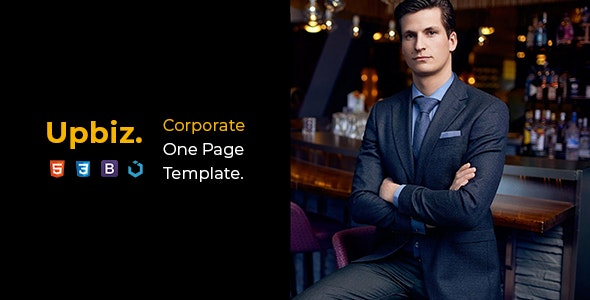 Upbiz — Corporate One Page Template - Corporate Site Templates