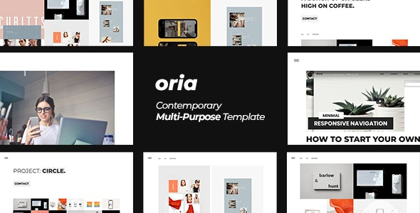 Oria — Minimal Contemporary Multi-Purpose Template - Portfolio Creative