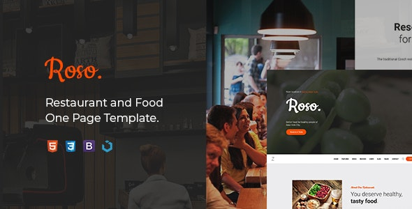 Roso — Restaurant and Food HTML Template - Restaurants & Cafes Entertainment