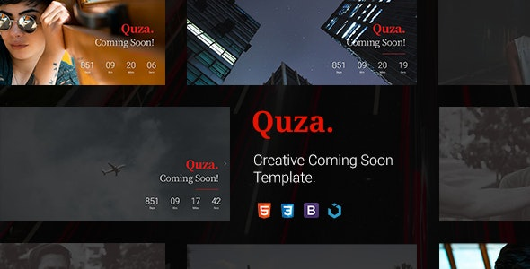 Quza — Creative Coming Soon Template - Under Construction Specialty Pages