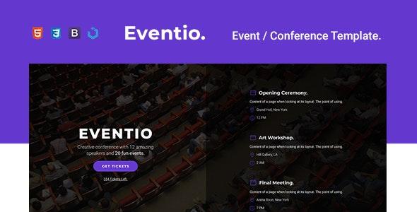 Eventio — Event & Conference Multi-Purpose Template - Marketing Corporate