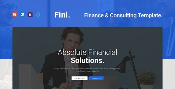 Fini — Finance & Consulting One Page Template - Business Corporate