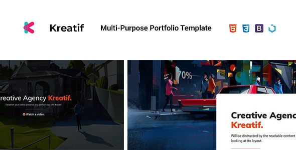 Kreatif — Creative Multi-Purpose Portfolio Template - Portfolio Creative