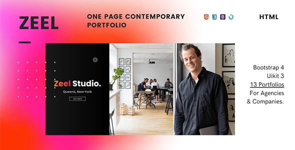 Zeel — One Page Contemporary Portfolio - Portfolio Creative