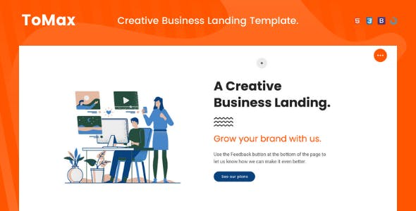 Tomax — One Page Multi-Purpose Business Landing