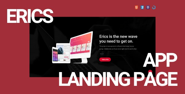 Erics — Creative App Landing Template - Landing Pages Marketing