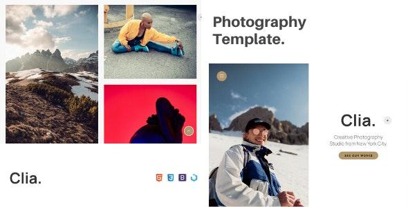 Clia — Creative Photography Template - Photography Creative