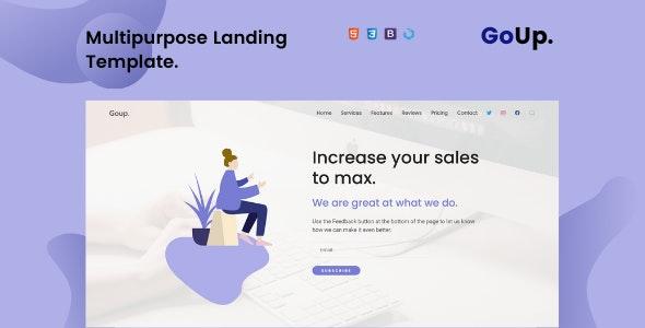 Goup — Multi-Purpose Parallax Landing Template - Landing Pages Marketing