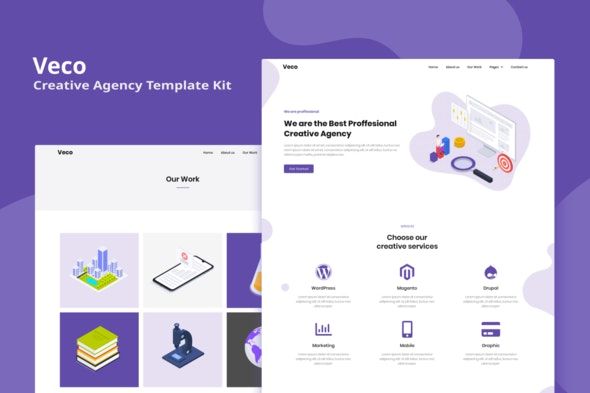Veco - Creative Agency Elementor Template Kit - Business & Services Elementor