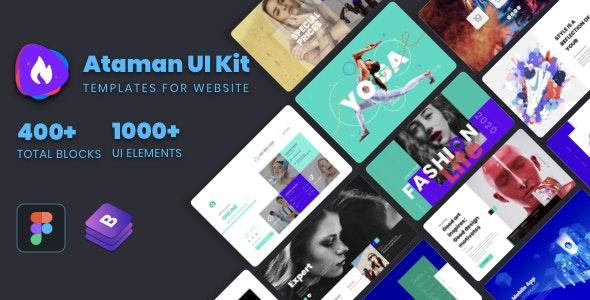Ataman UI Kit - Templates For Website [Figma] - Figma UI Templates