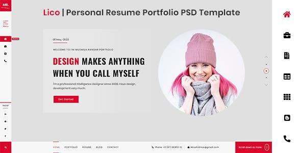 Lico | Personal/Portfolio/Resume Template