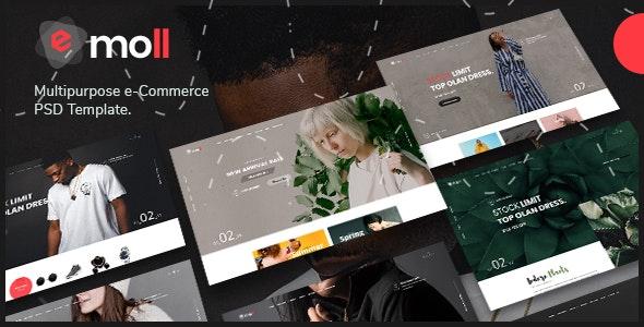 Emoll - Multipurpose eCommerce PSD Template - Fashion Retail