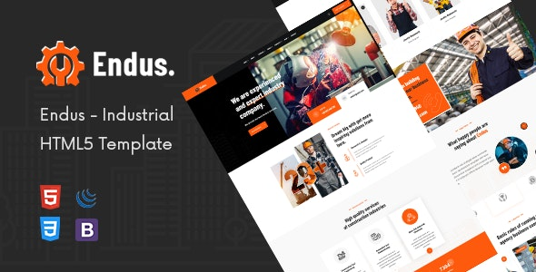 Endus - Industrial Manufacturing HTML Template - Business Corporate