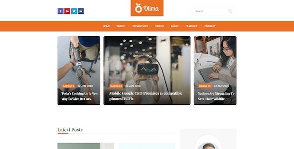 Olima - Modern Personal Blog XD Template