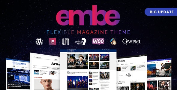 EmBe - Flexible Magazine WordPress Theme - Blog / Magazine WordPress
