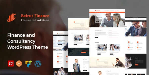 Beirut : Business, Finance and Consultancy WordPress Theme - Business Corporate