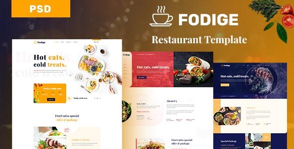 Fodige - Restaurant Caffe PSD Template - Food Retail
