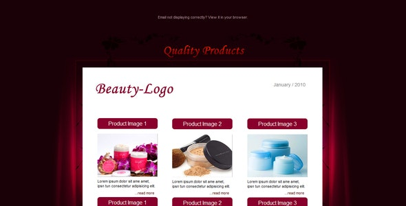 BEAUTY - Email Template - 6 Layouts - Newsletters Email Templates