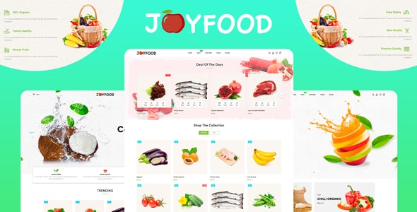 JoyFood - Grocery, Supermarket Organic Food/Fruit/Vegetables eCommerce Shopify Theme - Shopify eCommerce