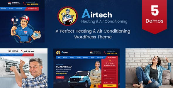 Airtech - Plumber HVAC and Repair theme by Templatation