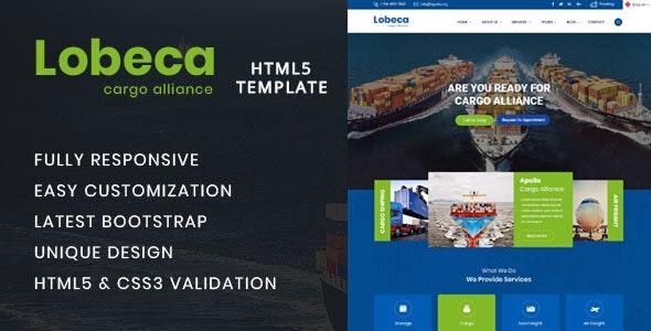 Lobeca Logistic Cargo HTML5 Template - Site Templates