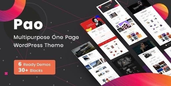 PAO -  OnePage  WordPress - Portfolio Creative