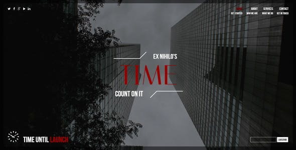 Time || Responsive Coming Soon Page