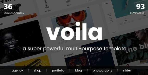 Voila - A Powerful Multi-Purpose Portfolio Template - Portfolio Creative