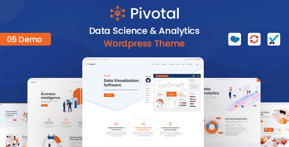 Pivotal - Data Science & Analytics WordPress Theme - Software Technology