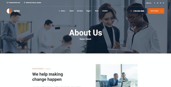 Gpai - Business PSD Template