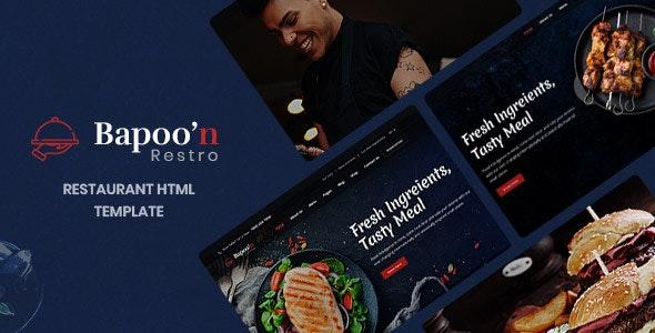 Bapoon - Restaurant & Food HTML Template - Food Retail