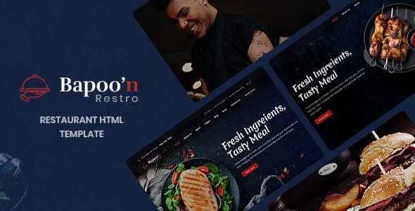 Bapoon - Restaurant & Food HTML Template