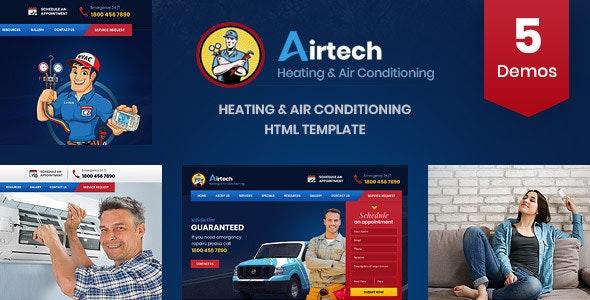 Airtech - HVAC Repairing HTML Template - Business Corporate