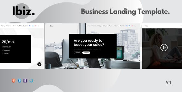 Ibiz — A Clean Business Landing Template
