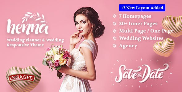 Download Henna - Wedding WordPress Theme