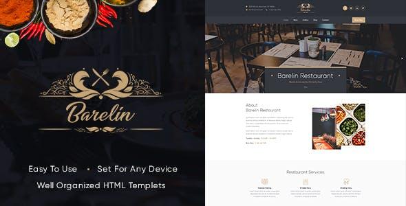 Barelin Restaurant Html Templates