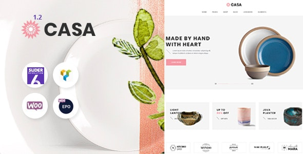 Casa - Furniture Ceramics WooCommerce Theme - WooCommerce eCommerce